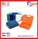 De hete Toolbox van de Eerste hulp van de Verkoop pp Materisl Lege Plastic Toolbox Uitrusting van Gevallen met Kleurrijk Ontwerp