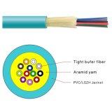 câble fibre optique mou de distribution de la mémoire tampon serrée GJFJV de 0.9mm