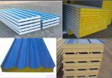 강철판 유리솜 바위 모직 샌드위치 지붕 또는 벽면을 착색하십시오