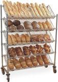 傾けられた5つの層のクロム金属線のパンの表示トロリーラック