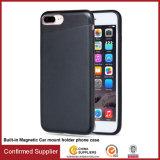 Caja suave del teléfono del sostenedor magnético del coche de TPU+Hiddern para el iPhone 7/7 más