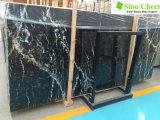 De geschikte Marmeren Natuurlijke Materiële Zwarte Plak van de Binnenhuisarchitectuur