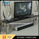 Шкаф TV самомоднейшей живущий черноты мебели комнаты стеклянный