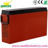 Batería terminal de acceso frontal de la comunicación de la batería para las telecomunicaciones 12V100ah