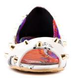 Женщины нового прибытия удобные плоские одевают причинные ботинки (YF-25)