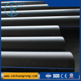 Conduite d'eau en plastique de noir de tube de HDPE
