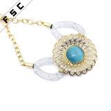 女性の合金のドバイの金は日曜日の花の結婚式の宝石類セットをめっきした