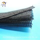 Selbstschließend RoHS Haustier-Kabel-Sleeving Polyester umsponnenes expandierbares Sleeving