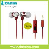 L'écouteur de câble loue l'écouteur de dans-Oreille de couleurs du son trois