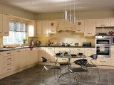 Os gabinetes de cozinha nova do MDF/PVC do projeto aceitam personalizam o preço barato