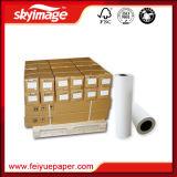 (1820mm) papel de transferência do Sublimation do rolo do grande formato de taxa de transferência 100GSM72inch elevada para a impressão de Digitas