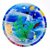 Cuvette acrylique fixée au mur de poissons