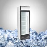 Refrigerador comercial de la bebida con la puerta de cristal para la promoción