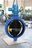 Het rubber bedekte Van een flens voorzien Vleugelklep (D371X-10/16) met een laag