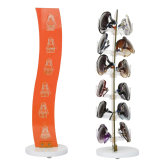 Étalage acrylique orange transparent de lunettes de Coutertop Roating