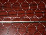 Engranzamento de fio sextavado revestido do PVC/engranzamento fio da galinha