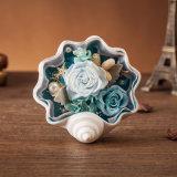 シェルはギフトおよび装飾のためにみずみずしい花を維持した