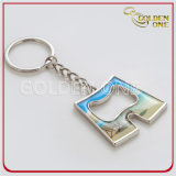 Metal impreso modificado para requisitos particulares Keychain del estilo de Sun&Beach