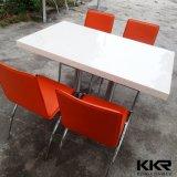 レストラン(T170823)のための白く大きい円形の固体表面のダイニングテーブル