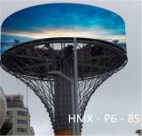 Schermo di visualizzazione esterno del LED P6 per il video di pubblicità esterna