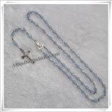 Il metallo vuoto religioso borda i rosari con il connettore della Mary di Virgin e la traversa (IO-cr379)