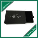 Caixa de presente do estilo da gaveta da impressão da folha de prata do logotipo