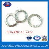 Verzinkte doppelte seitliche Federring-Stahlunterlegscheibe-flache Unterlegscheibe-Federscheibe des Knoten-DIN9250