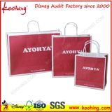Kundenspezifische Drucken-Firmenzeichen-Goldgeschenk-Tuch-Einkaufstasche
