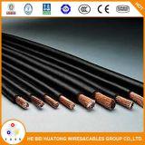Руководства автомобиля батареи медного провода черноты 2/0AWG кабеля заварки красные солнечные