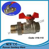 Шариковый клапан резьбы латунный фикчированный для использования воды (V18-111)
