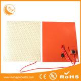 Almofada de aquecimento de alumínio do calefator 230V 300X300 da borracha de silicone