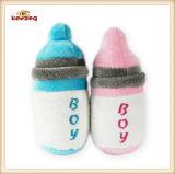 작은 공급하 병 패턴 개를 위한 견면 벨벳 &Stuffed 삐걱거리는 애완 동물 장난감