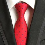 남자 자카드 직물 형식 고전적인 100%Silk 폴카 동점 (A022)