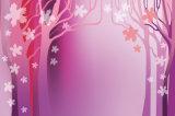 Modèle pourpré romantique de configuration d'arbre pour la peinture à l'huile à la maison de décoration