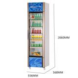 Congélateur droit de porte simple en verre dans de large volume en vente