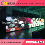 2017 Afficheur LED extérieur commercial de vente chaud de la publicité P8 pour l'installation fixe avec l'intense luminosité et la bonne stabilité