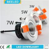Anuncio publicitario blanco puro ahuecado Downlight especular del proyecto de 3W Dimmable LED