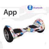 [10ينش] [هوفربوأرد] مع [أبّ] كهربائيّة عربة نفس ميزان [سكوتر] لوح التزلج كهربائيّة لوح التزلج كهربائيّة