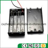 support de la batterie 4AAA avec les fils, la couverture et commutateur rouges/noirs de fil