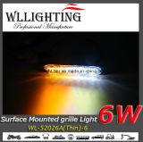 Warnende LED-Gitter-Oberfläche hängt hellen Kopf ein