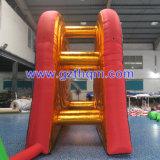 Gioco gonfiabile gonfiabile del dardo del piede dei giochi da tavolo/due pareti del dardo di colore dorato da vendere