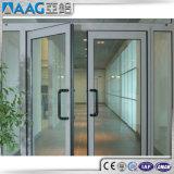 Tissu pour rideaux en aluminium Windows et porte avec la glace fixe