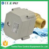 """1개의 """" 인치 Dn25 2 방법 금관 악기 수나사 전기 통제 물에 의하여 자동화되는 공 벨브"""