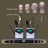 Ls-601 Draadloze Microfoon van de Diversiteit van de Toon van dubbel-kanalen de Proef Digitale