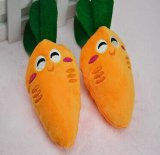 Cortar el juguete de la felpa de la zanahoria de Sqeaker para el animal doméstico