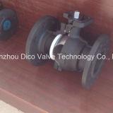 Шариковый клапан Wcb отливки облечения с пусковой площадкой ISO5211 Mouting