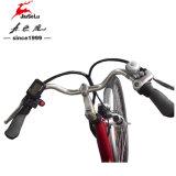 Vélo électrique rouge sans frottoir de ville de batterie au lithium du moteur 36V (JSL036A-7)