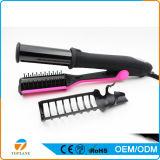 2 en 1 enderezadora del pelo de la buena calidad y bigudí de pelo eléctricos de cerámica