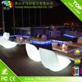 Hot Sale Outdoor LED Furniture, White Sofa Lighted LED Furniture