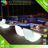 Venta caliente al aire libre Muebles LED, sofá blanco con luz LED muebles